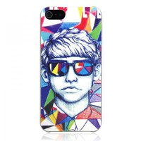 Colorful Scrawl Portrait Embossment iPhone 5 Case