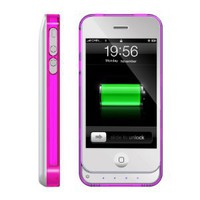 ICLiC 30 pin Apple iPhone 4 4S External Extend Battery Case Cover bumper 1450mAh White: Cell Phones & Accessories