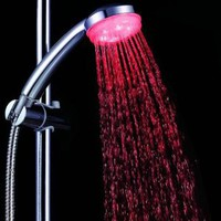 Showerhead with Built-in LEDs for 7 Color Modes Based on Water Temperature - Kwanzaa Present: Home Improvement
