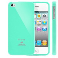 Mercury Slim Fit Flexible TPU Case for Apple iPhone 4 (Turquoise / Mint): Cell Phones &amp; Accessories