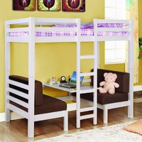 Amazon.com: Twin Convertible Loft Bed: Home &amp; Kitchen