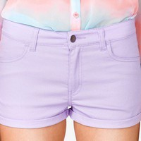 Colored Denim Shorts | FOREVER 21 - 2030187827
