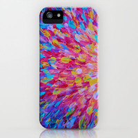 SPLASH, Revisited - Bold Beautiful Feminine Romance Ocean Beach Waves Magenta Plum Turquoise Crimson iPhone Case by EbiEmporium | Society6