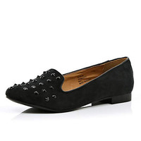 Black studded slipper shoes