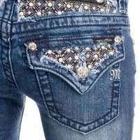 Amazon.com: Miss Me studded pearl bootcut jeans (up to size 34): Clothing