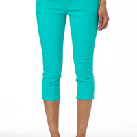 Taylor Super-Skinny Crop Pool Green