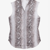 PREORDER EXCLUSIVE Sleeveless Python Blouse-Tops-Clothing- IntermixOnline.com