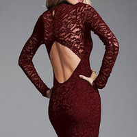Open Back Whole Lace Dress 69