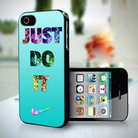 10259 Nike Just Do It Gliter Photo Tiffany - iPhone 5 Case