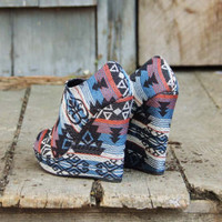 Desert Shadows Wedges, Sweet Rugged Boots