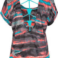FULL TILT Tie Dye Womens Boxy Top