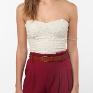 Pins and Needles Lace Zip-Back Bustier-- Urban Outfitters