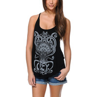 Obey Nouveau Crest Black Melody Tank Top
