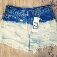 The 121s - Ombre High Waisted Shorts