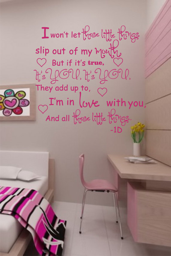 one direction song lyric wall decals
