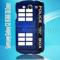 Tardis Doctor Who Blue Public Call Box Samsung Galaxy S3 i9300 3D Case