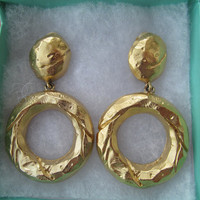 Givenchy dangling earrings, golden clipon earrings, collectible jewels