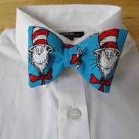 Cat in the Hat bow tie by sewfairycute on Etsy
