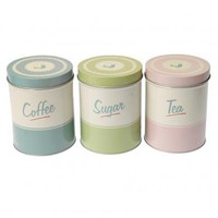 Pantry Design Set Of Tea Coffee Sugar Tins