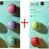 Eos Organic Smooth Sphere Lip Balm - 2 each Summer Fruit, Sweet Mint, Strawberry Sorbet, Passion Fruit, Honeysuckle Honeydew .25oz each (2x 5 Pack)