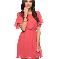 Flutter Sleeve Dress | FOREVER21 - 2008585758
