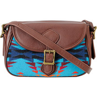 Pendleton Native Print Leather Handbag