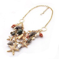 Mixe Sea Shell Beach Holiday Necklace