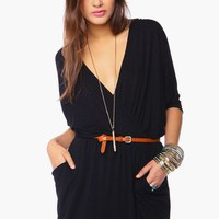 Draped Across Dress - Black in Clothes at Nasty Gal