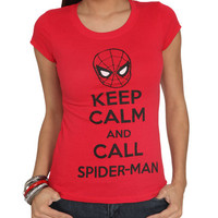 Keep Calm SpiderMan Tee | Shop Just Arrived at Wet Seal