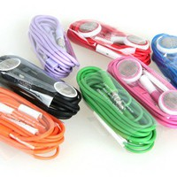 Green Earphone Headphones with Remote Mic for iPhone/iPad [646]