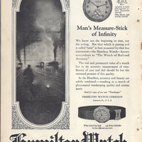 Vintage Print Advertisement 1923 Hamilton Watch and Sta Lokt Cuff Links