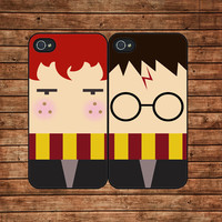 Harry Potter and Ron Weasley,best friend--iphone 4 case,iphone 4s case  ,in plastic or silicone case