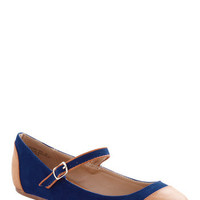 Dance Break Flat in Cobalt | Mod Retro Vintage Flats | ModCloth.com