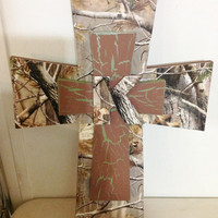 25% OFF SALE Camo Themed Cross