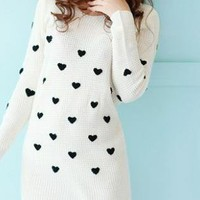 I LOVE YOU ALL OVER HEART LIGHT SWEATER.