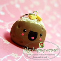 HAPPY BAKED POTATO Charm  Kawaii Polymer Clay by TheHappyAcorn