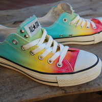 Low Top Rainbow Studded Converse Rare