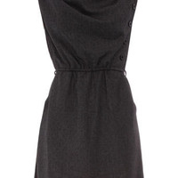 Dark grey cowl neck dress - Dresses Sale - Dresses - Dorothy Perkins