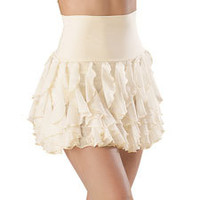 High-Waist Waterfall Cascade Ruffle Skirt; Balera