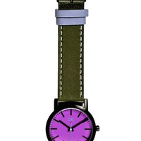 Taki Nicollet Watch, Olive - The Afternoon