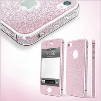 Cool Shiny Rhinestone Full Body Cover Skin Sticker Shield For IPhone4s