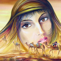 Magic Arabian Nights Original Acrylic Painting on by Borettoart