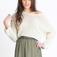 Rumour Has It Cropped Sweater - &amp;#36;34.00 : ThreadSence.com, Your Spot For Indie Clothing  Indie Urban Culture