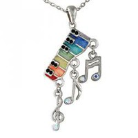 Rainbow Piano Necklace