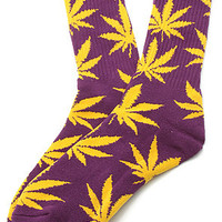 HUF Socks Plantlife in Purple