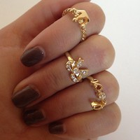 midi princess rings set