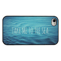 Iphone 4 4s and 5 case  sea iphone case  take me by RetroLoveCases