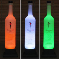 Skinny Girl Cucumber Vodka Color Changing LED Remote Controlled Eco Friendly  LED Bottle Lamp/Bar Light