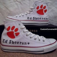 Ed Sheeran Converse All Stars by CustomConverseUK on Etsy