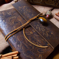Leather Journal - Greenman OOAK